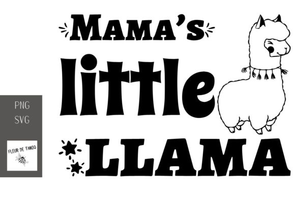 Download Free Mama S Little Llama Graphic By Fleur De Tango Creative Fabrica for Cricut Explore, Silhouette and other cutting machines.