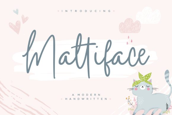 Print on Demand: Mattiface Script & Handwritten Font By Balpirick