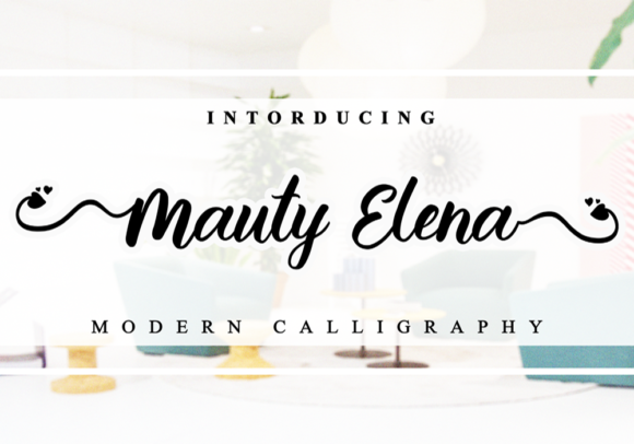 Print on Demand: Mauty Elena Script & Handwritten Font By Letterfand.Studio
