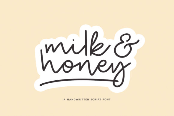 Print on Demand: Milk and Honey Script & Handwritten Font By paulhewittype