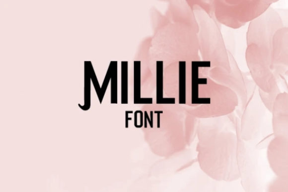 Print on Demand: Millie Display Font By carina2