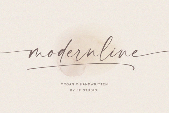 Print on Demand: Modernline Script & Handwritten Font By Ef Studio