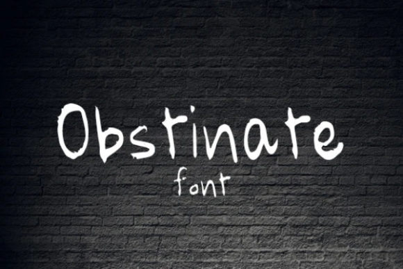Print on Demand: Obstinate Display Font By carina2