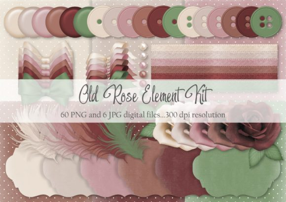 Print on Demand: Old Rose Element Kit Graphic Objects By Simply Paper Craft