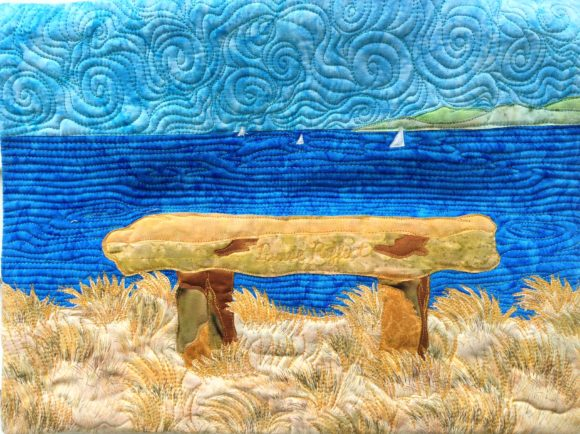 Overlook Bench Art Quilt Graphic Quilt Patterns By quiltedfabricart - Image 1