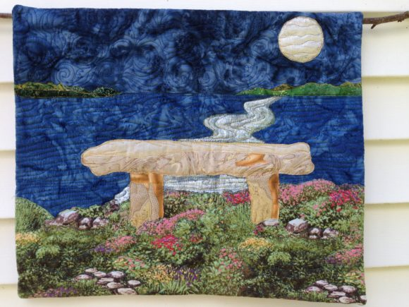 Overlook Bench Art Quilt Graphic Quilt Patterns By quiltedfabricart - Image 3
