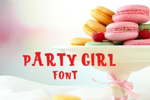 Print on Demand: Party Girl Display Font By carina2