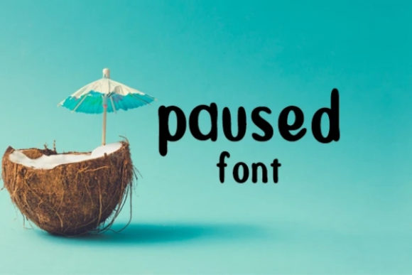 Print on Demand: Paused Display Font By carina2