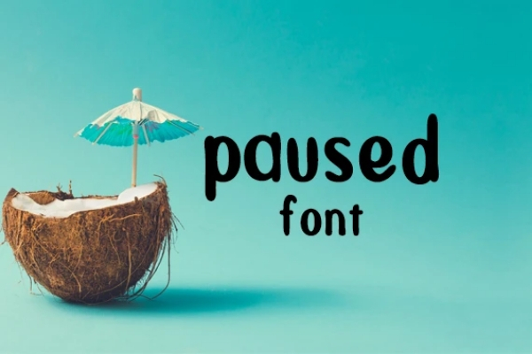 Download Free Paused Font By Carina2 Creative Fabrica for Cricut Explore, Silhouette and other cutting machines.
