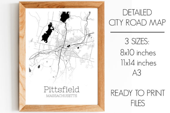 Print on Demand: Pittsfield Massachusetts City Map Graphic Photos By SVGExpress