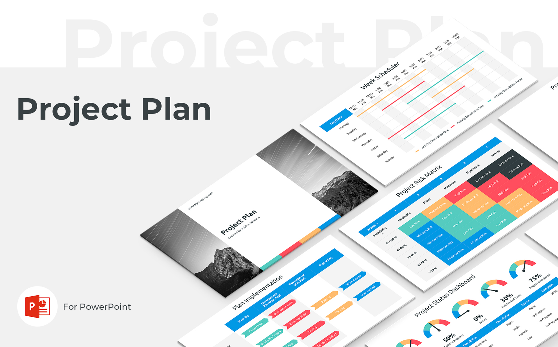 Download Free Project Plan Powerpoint Template Graphic By Jetztemplates for Cricut Explore, Silhouette and other cutting machines.