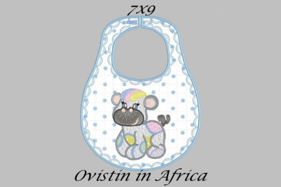 Rainbow Baby Hippo Bib Small Nursery Embroidery Design By Ovistin in Africa