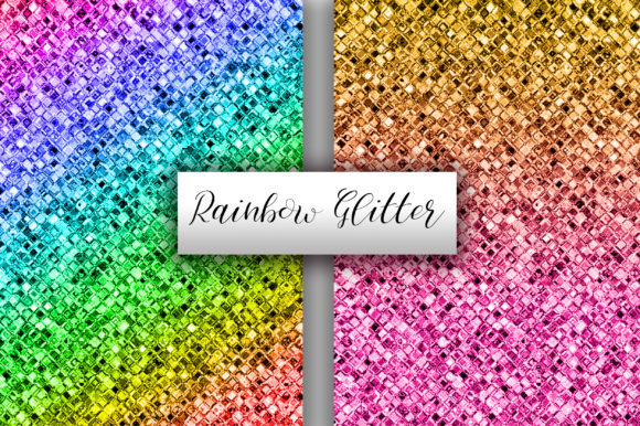 Rainbow Glitter Background Graphic Backgrounds By PinkPearly - Image 2