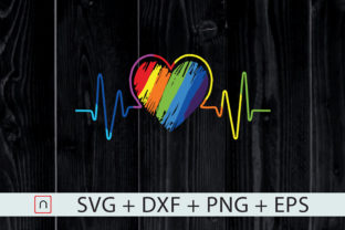 Print on Demand: Rainbow Heartbeat, Gay Pride LGBTQ Graphic Print Templates By Novalia