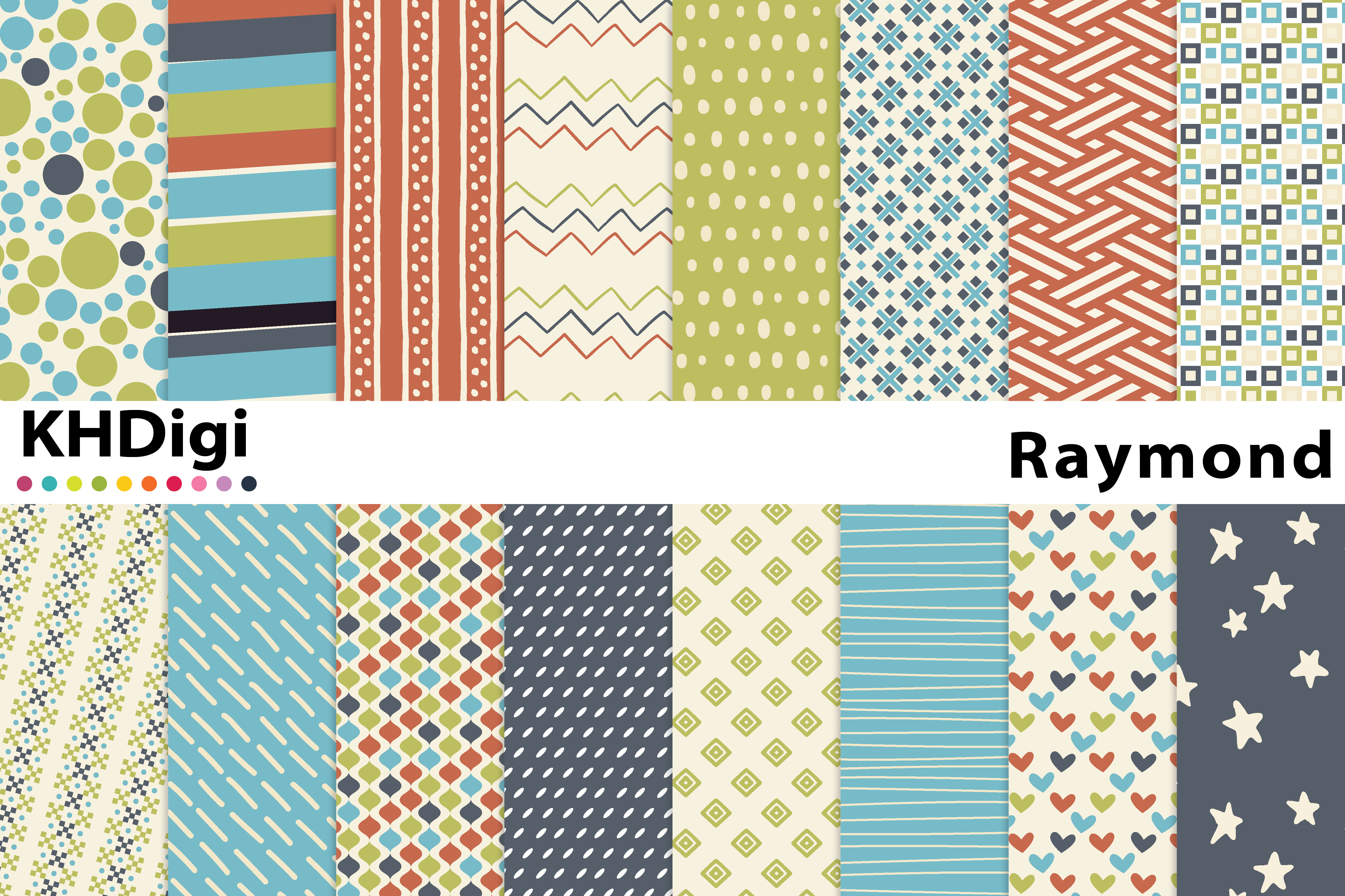 Download Free Raymond Digital Paper Graphic By Khdigi Creative Fabrica for Cricut Explore, Silhouette and other cutting machines.