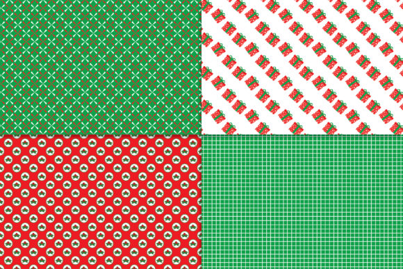 Download Free Red Green Christmas 1 Digital Paper Graphic By Khdigi for Cricut Explore, Silhouette and other cutting machines.