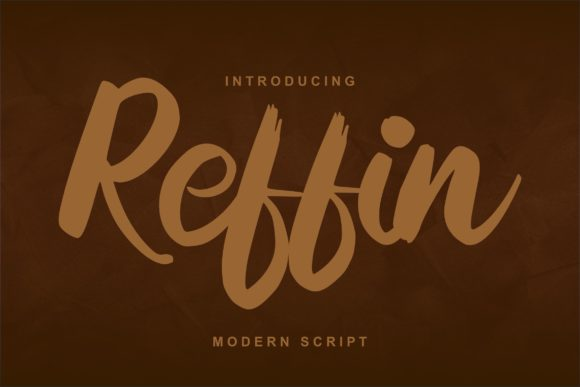 Print on Demand: Reffin Script & Handwritten Font By Vunira
