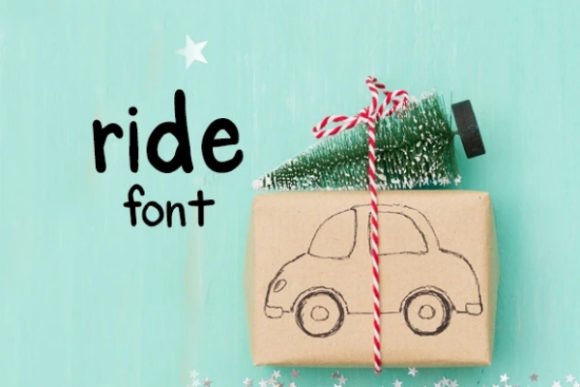 Print on Demand: Ride Display Font By carina2