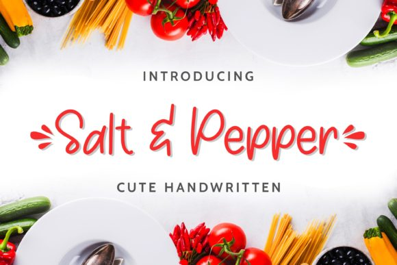 Download Free Salt Pepper Font By Almarkhatype Creative Fabrica for Cricut Explore, Silhouette and other cutting machines.