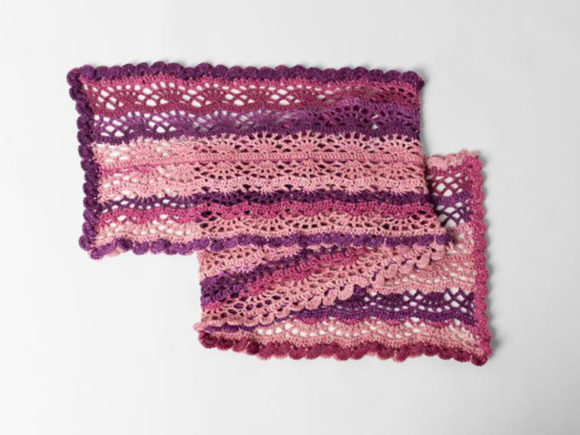 Scroll Lace Scarf Crochet Pattern Graphic Download