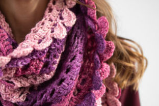 Scroll Lace Scarf Crochet Pattern Graphic Crochet Patterns By Knit and Crochet Ever After 6