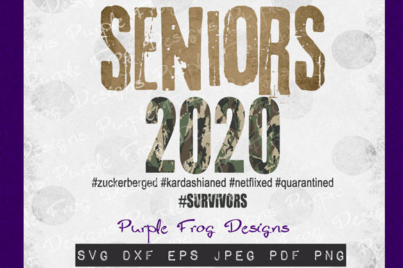 Download Free Seniors 2020 Quarantine Clipart Graphic By Heather Terry for Cricut Explore, Silhouette and other cutting machines.