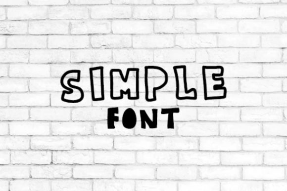 Print on Demand: Simple Display Font By carina2