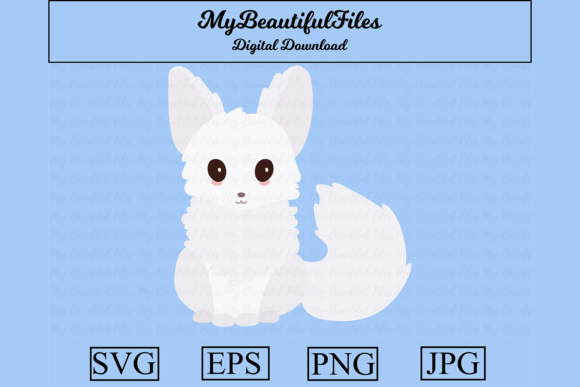 Download Free Snow Fox Graphic By Mybeautifulfiles Creative Fabrica for Cricut Explore, Silhouette and other cutting machines.