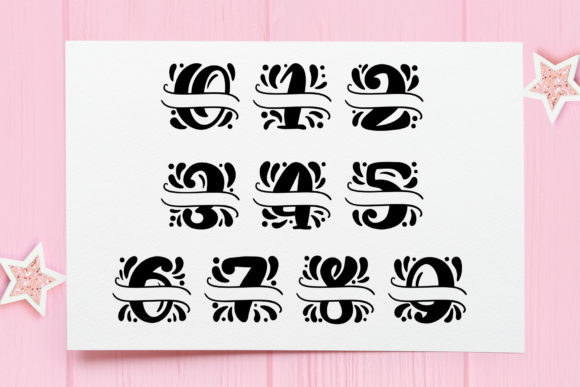 Print on Demand: Split Letter Name Display Font By Happy Letters - Image 11
