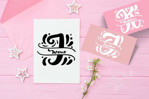 Print on Demand: Split Letter Name Display Font By Happy Letters - Image 3