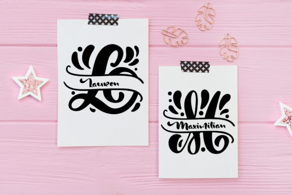 Print on Demand: Split Letter Name Display Font By Happy Letters - Image 4