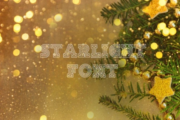 Print on Demand: Starlight Display Font By carina2