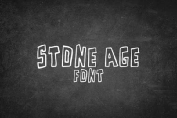 Print on Demand: Stone Age Display Font By carina2