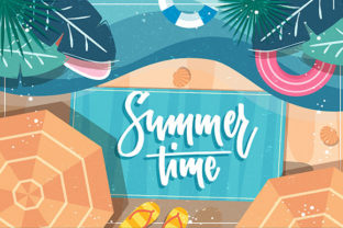 Print on Demand: Summer Background Graphic Backgrounds By ART Design