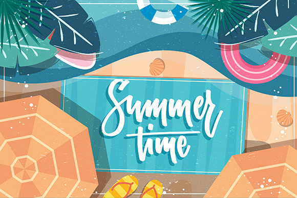 Summer Background Graphic Backgrounds By ART Design