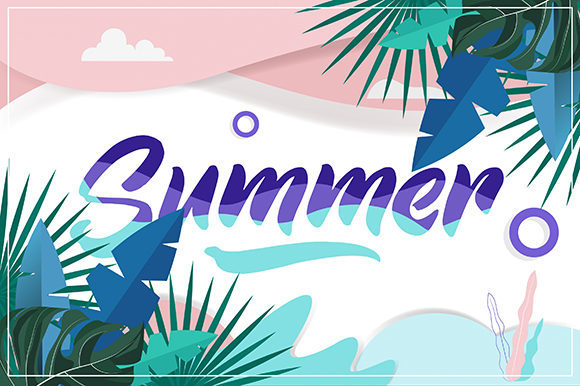 Summer Time Graphic Backgrounds By ART Design