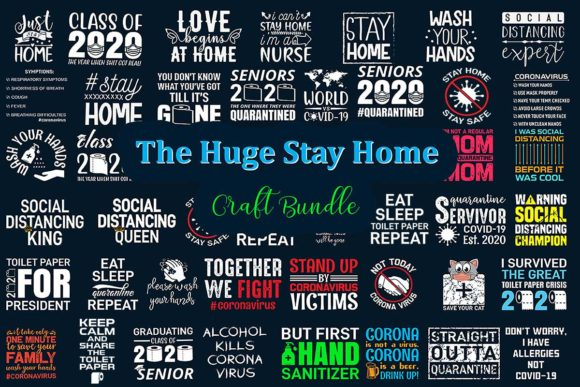 Print on Demand: The Huge Stay Home Craft Bundle  By CraftStudio