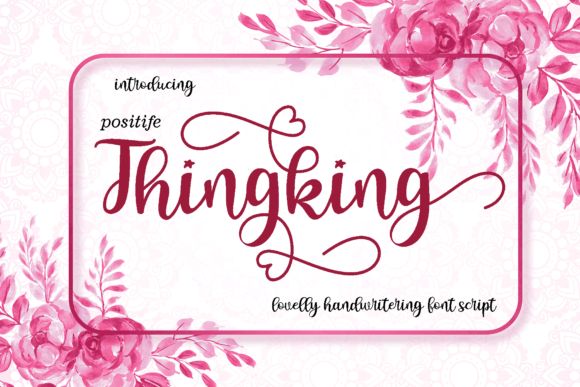 Print on Demand: Thingking Script & Handwritten Font By MYdesign