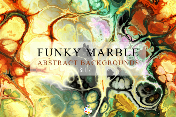 Print on Demand: Totally Funky Marble Papers Set 2 Gráfico Fondos Por Prawny