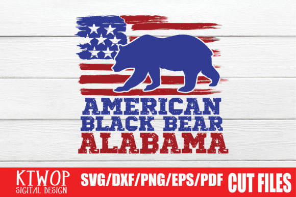 Download Free Usa X Animal Bear Alabama Fourth Of July Graphic By Ktwop Creative Fabrica for Cricut Explore, Silhouette and other cutting machines.