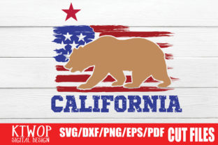 Download Free Usa X Animal Bear California 4th July Graphic By Ktwop for Cricut Explore, Silhouette and other cutting machines.