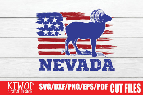 Download Free Usa X Animal Bighorn Sheep Nevada 4th July Graphic By Ktwop for Cricut Explore, Silhouette and other cutting machines.