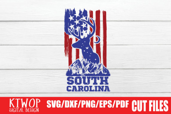 Download Free Usa X Animal Deer South Carolina Graphic By Ktwop Creative Fabrica for Cricut Explore, Silhouette and other cutting machines.