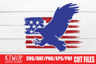 Print on Demand: USA X Animal Eagle Side, Fourth of July Graphic Crafts By KtwoP
