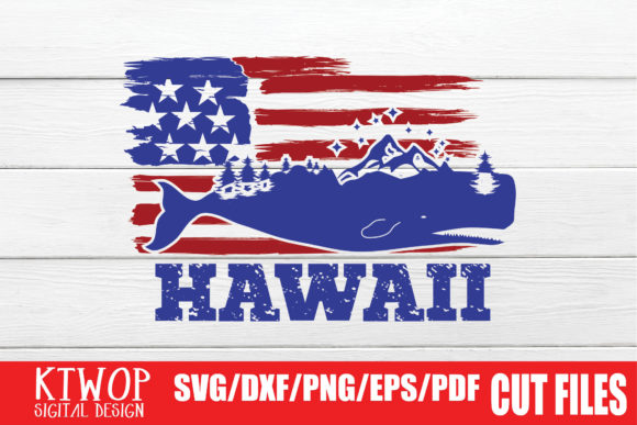 Download Free Usa X Animal Whale Hawaii 4th July Graphic By Ktwop Creative Fabrica for Cricut Explore, Silhouette and other cutting machines.