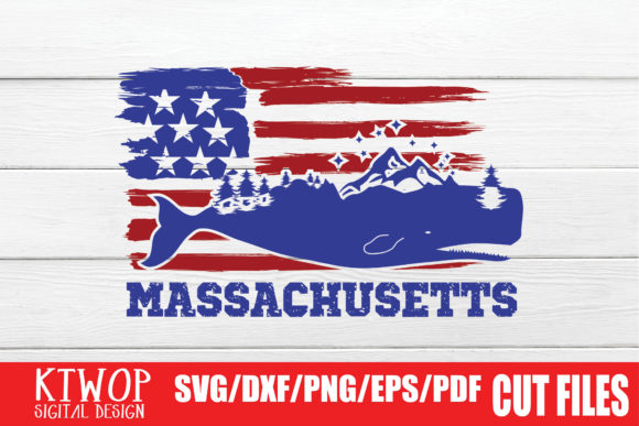 Download Free Usa X Animal Whale Massachusetts 4th July Graphic By Ktwop for Cricut Explore, Silhouette and other cutting machines.