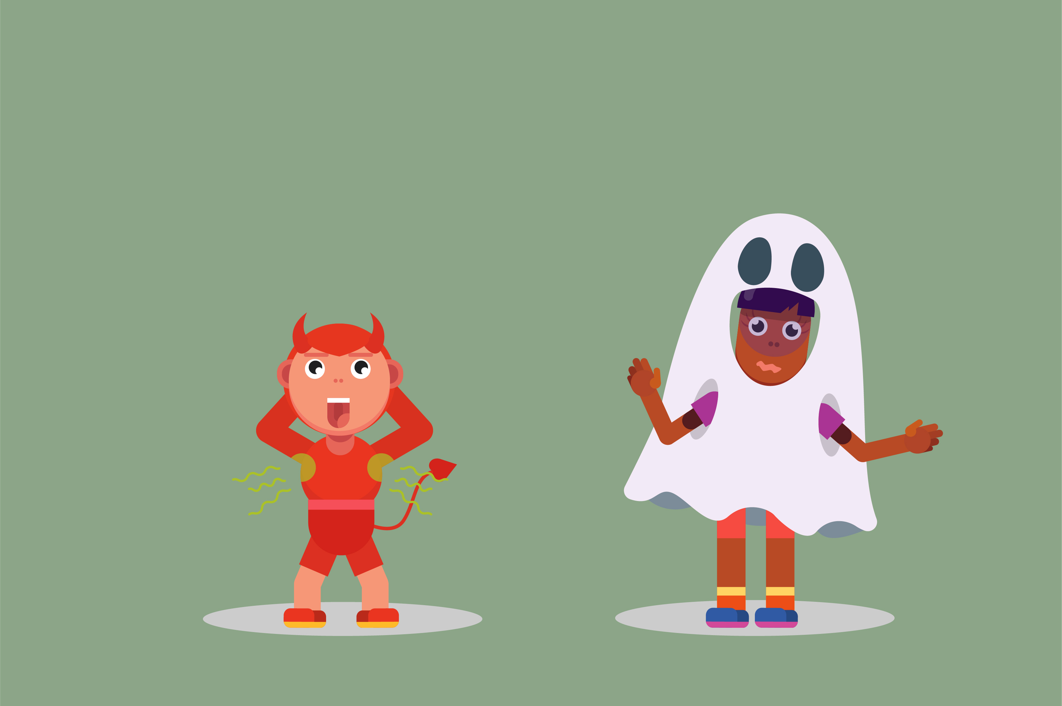 Download Free Unique Halloween Characters Graphic By Altumfatih Creative Fabrica for Cricut Explore, Silhouette and other cutting machines.