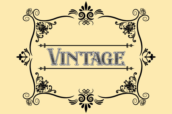 Download Free Vintage Frame Ornament Hand Drawn Design Graphic By Graphicsfarm SVG Cut Files