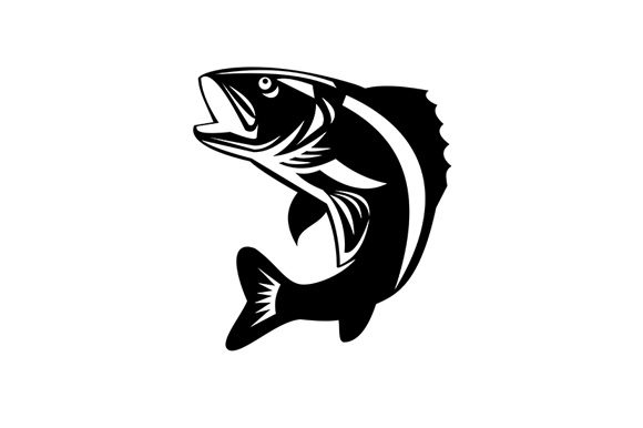 Download Walleye Fish Jumping Up Isolated Retro Graphic By Patrimonio Creative Fabrica
