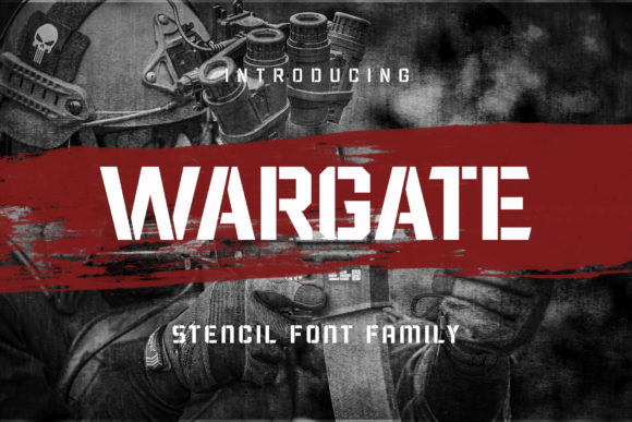 Print on Demand: Wargate Display Font By Arterfak Project